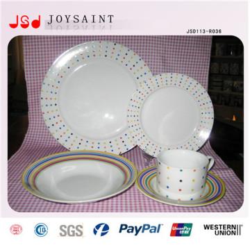 Platos de fruta baratos al por mayor de las placas de la porcelana de la cena