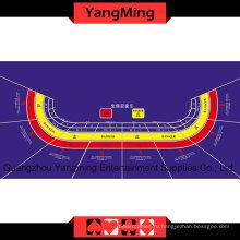 Стол баккара макет фиолетовый 9 человек (YMBL06P)