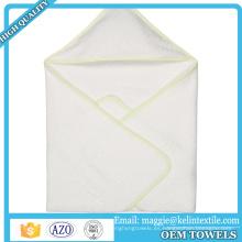Toalla de baño con capucha del bebé de la toalla del bebé del algodón orgánico 70% respetuoso del medio ambiente del 70%