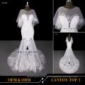Neuer Designer Jewel Ausschnitt Sweetheart Ausschnitt sexy Brautkleid