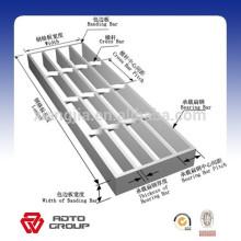 caillebotis de barre d'escalier en acier de haute technologie et de haute précision