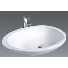 Cuarto de baño sanitario de baño de forma redonda sobre el lavabo (1005)