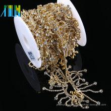 Cadeia De Borlas de Cristal cristalino Cadeia de Costura Guarnição Applique Cadeia de Strass Para O Casamento De Noiva Vestido Acessórios