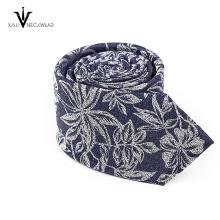 OEM Service Werbe Jacquard Woven Herren Polyester Krawatte Floral Paisley Krawatte