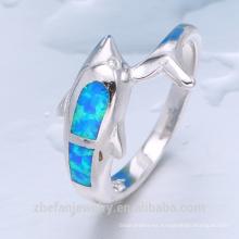 joyería plateada oro anillo de ópalo de fuego al por mayor precio al por mayor