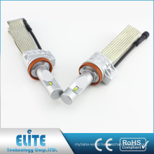 LED Headlight PHI ZES Chips 4000LM 6500K 12V-24V Pure White Beam Fanless 5S H8 Headlamp