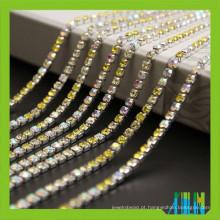 Preço de fábrica nova corrente de copo de cristal strass super fechado com strass de alta qualidade para vestuário