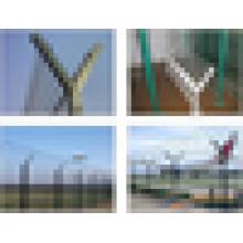 Clôture de maille d'aéroport pliée à prix bas de haute qualité