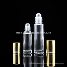 5ml 10ml Clear Amber Roll en botellas con rodillo para el uso del perfume