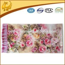 China Style Woven Two Layers OEM Custom Design Classic 100% Silk Pashmina Atacado