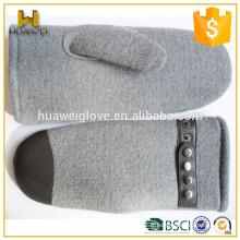 Mitaines de laine d'hiver doublées en molleton pour hommes / femmes