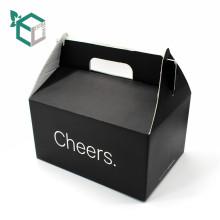 Qualitäts-billiges schwarzes E-Flöte Wellpappe Lebensmittelqualität Material FSC Cupcake Verpackung Box
