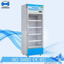 Mini geladeira com porta de vidro 196L