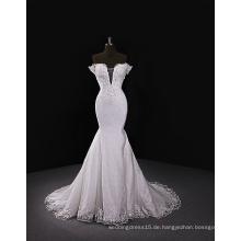 2017 Süß-Herz Ausschnitt Brautkleid mit abnehmbarem Zug