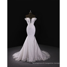 2017 sweet-heart neckline wedding dress with removeable train