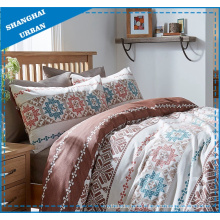Brown Tribe Totems Printed Polyester Duvet Cover Set