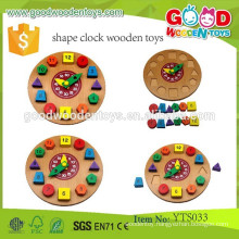 Promotional Wooden Toys Child Educational Clock Game Toy Shape Clock Wooden Toys