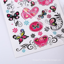 Custom Fashion Tattoo Sticker Non-toxic Wholesale  Butterfly Floral Temporary Tatoo Sticker