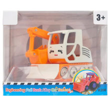 Boy Gift Plastic Engineering caminhão escavadeira Toy Car