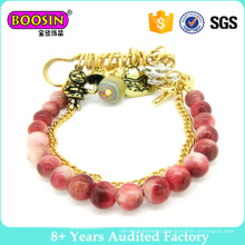 Fashion Jewelry Gold Plated Glass Bead Bracelet #31469