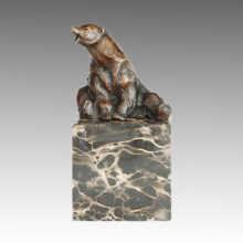 Animal Statue Sitting Bear Bronze Sculpture, Milo Tpal-277