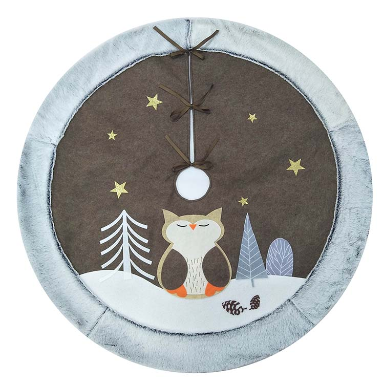 Owl Christmas Tree Skirt