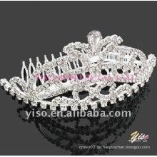 Hochzeitskristall-Tiara-Kamm