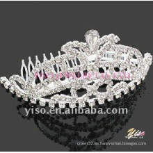 Peine de tiara de cristal de la boda