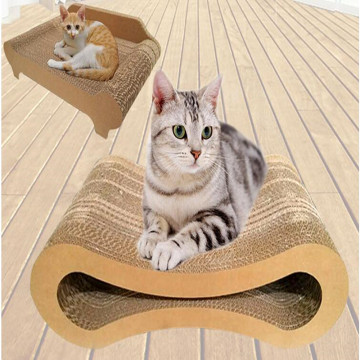 cat scratching board with new design