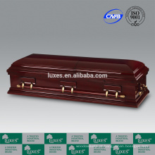 Fabricante de caixão LUXES Popular vendendo Funeral caixão Bordeaux