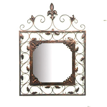 Rusty Square Metal Mirror Craft for Home Decoration