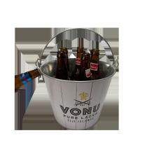 seau à glace galvanisé par cadeau chaud de bière de vente avec le décapsuleur