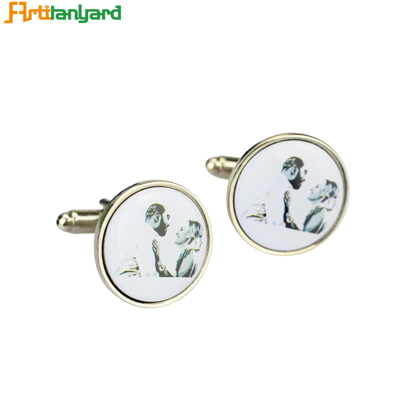 Different Plating Customized Logo Cufflinks