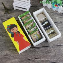 boîte de tiroir d'emballage biscuits colorés de qualité alimentaire mignon