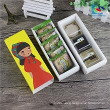 cute food grade colorful cookies packaging drawer box
