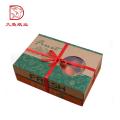 Fabrik OEM maßgeschneiderte Größe Obst Verpackung Geschenkpapier Box mit Griff