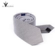 Corbata personalizada del logotipo de la compañía del poliester de los hombres