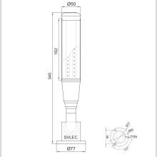Luz de torre de señalización LED con zumbador