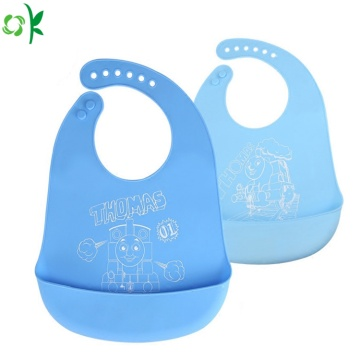 Food Grade Cartoon Silicone Slabbetje voor op reis