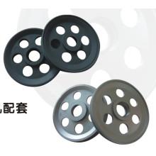 Aluminium-Umlenkrolle für Draht- und Kabel-Extrusionslinie / Führungsrad Vier Nut-Beschichtung Keramikdraht-Umlenkrolle