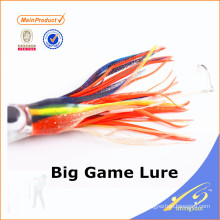 SKL022 Venta caliente de China proveedor al por mayor aparejos de pesca calamar faldas gran señuelo del juego