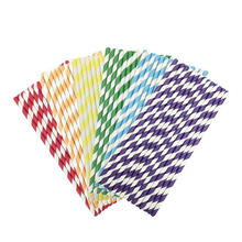 Party Food Grade Wholesale Custom Color Striped Paper Straws Bulk,Eco Biodegradable Paper Drinking Straws