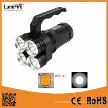 Lumifre 3300 Venda quente de alta potência 4 * 18650 bateria 2000 Lumens recarregável lanterna LED