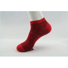Socquettes en coton jacquard à double aiguille (WA201)