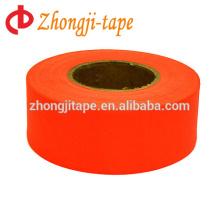 fluorescent orange flagging tape