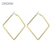 Large Gold Square Hoop Earrings For Women
