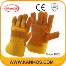 Перчатки из натуральной кожи, обработанные в технике безопасности, заделанные в ладонь (110112-1)