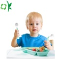 Muỗng Fork Set Baby Silicone mềm an toàn