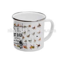 Regalo de cumpleaños al aire libre de la lata de la taza de café del esmalte con diseño del OEM