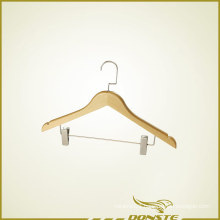 Wooden Clothes Hanger with Trouser Press